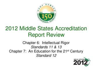 2012 Middle States Accreditation Report Review