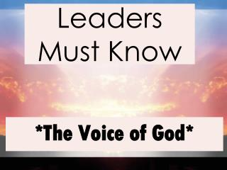 Leaders Must Know