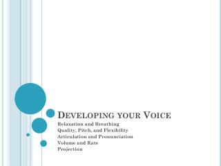 Developing your Voice