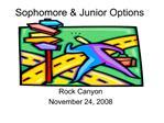Sophomore Options