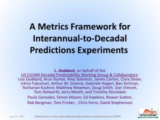 A Metrics Framework for  Interannual -to-Decadal Predictions Experiments