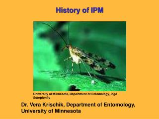 University of Minnesota, Department of Entomology, logo Scorpionfly