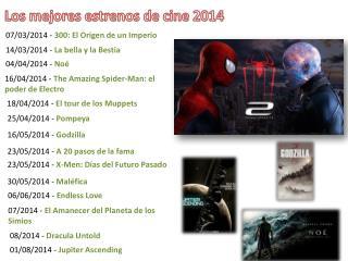 Los mejores estrenos de cine 2014