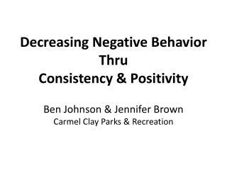 Positive Behavior Recognition
