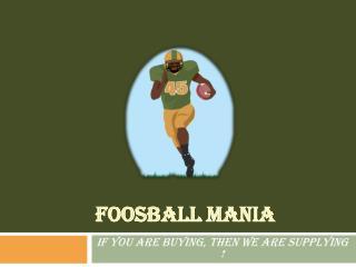 Foosball Mania