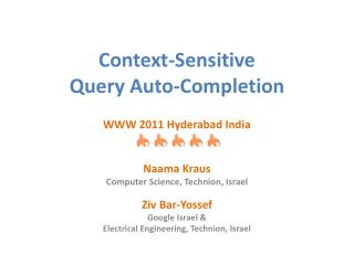 Context-Sensitive  Query Auto-Completion