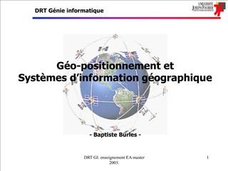 DRT GI. enseignement EA master 2003.