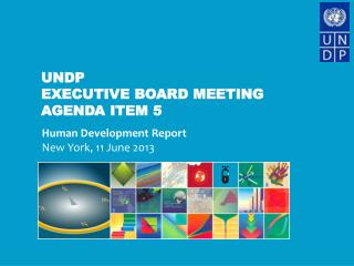 UNDP  Executive Board Meeting Agenda Item 5