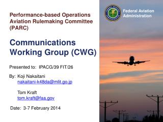 Performance-based Operations Aviation Rulemaking Committee (PARC)