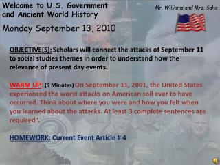 Monday  September  13,  2010
