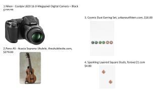1.Nikon - Coolpix L820 16.0-Megapixel Digital Camera – Black  $199.99