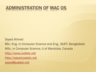 Administration  of Mac OS