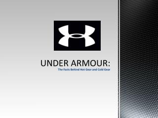 UNDER ARMOUR:
