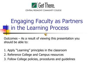 Engaging Faculty as Partners  in the Learning Process