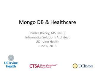 Mongo DB & Healthcare