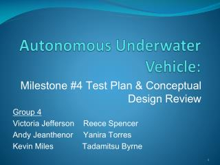 Autonomous Underwater Vehicle: