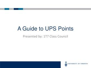 A Guide to UPS Points