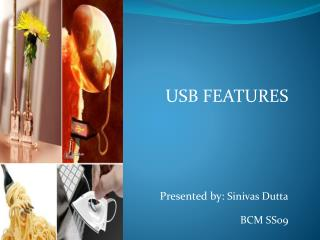 USB FEATURES  Presented by:  Sinivas Dutta BCM SS09