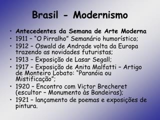 Brasil - Modernismo
