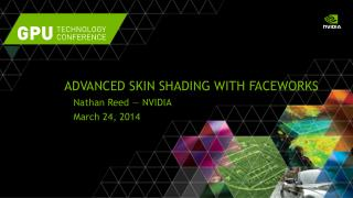 Advanced Skin Shading with  FaceWorks