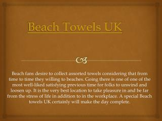 Beach Towels UK
