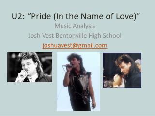 """U2: """"Pride (In the Name of Love)"""""""