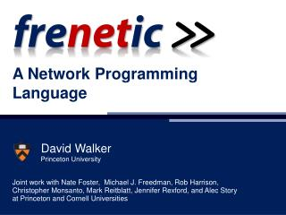 A Network Programming Language