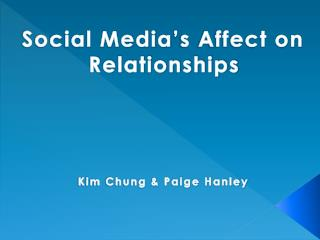Social Media's Affect on Relationships