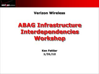 ABAG Infrastructure Interdependencies Workshop