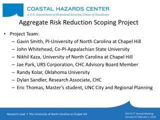 Aggregate  Risk Reduction Scoping Project