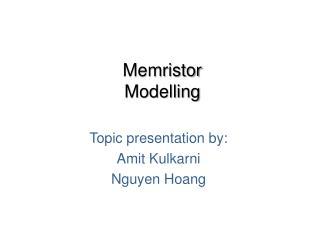 Memristor  Modelling