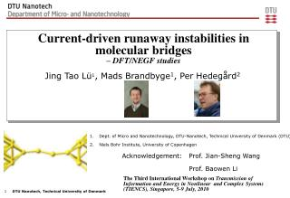Current-driven runaway instabilities in molecular bridges – DFT/NEGF studies