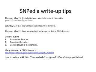 SNPedia  write-up tips