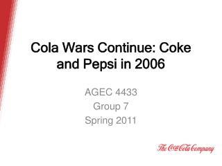 Cola Wars Continue: Coke and Pepsi in 2006
