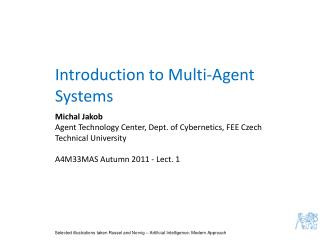 Introduction to Multi-Agent Systems
