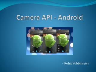 Camera API - Android