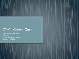 CTA's Ventra Card