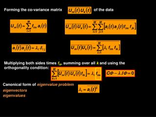 Forming  the co-variance matrix