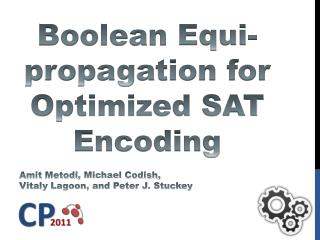 Boolean  Equi -propagation for Optimized SAT Encoding