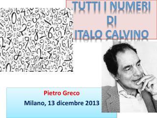 Tutti I numeri  di Italo Calvino