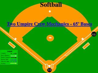 Two Umpire Crew Mechanics - 65' Bases