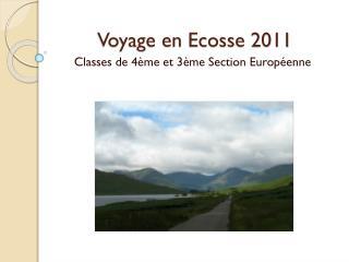 Voyage en Ecosse 2011