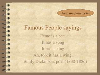 Famous People sayings