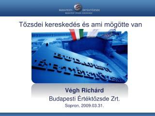 Végh Richárd Budapesti  Értéktőzsde  Zrt . Sopron, 2009.03.31.