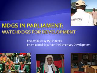 Mdgs  in parliament: watchdogs for development
