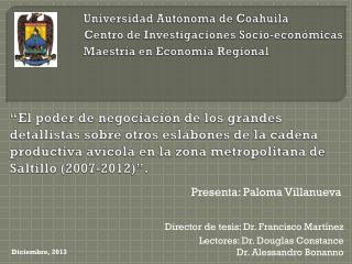 Presenta: Paloma Villanueva