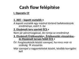 Cash flow felépítése