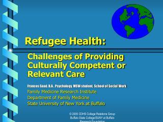 Refugee Health: