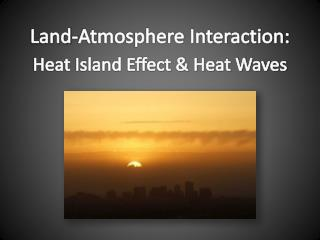 Land-Atmosphere Interaction: