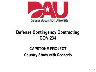 Defense Contingency Contracting CON 234